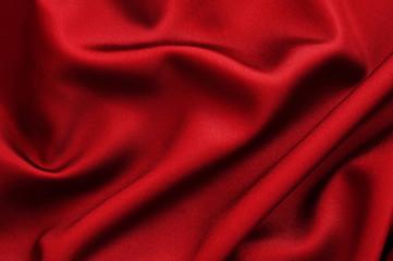 Tissu soie rouge