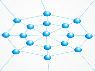 abstract network map