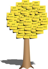 save the nature sticky notes