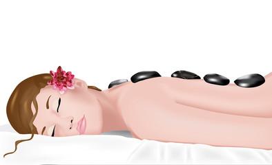 massaggio con pietre laviche