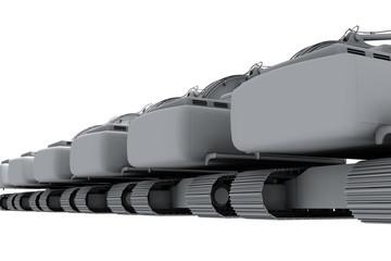 Grey models of the diggers