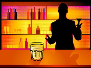 Bar mit Barmann