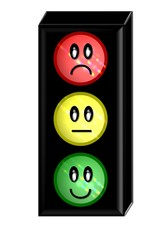 Ampel rot grün gelb Bewertungssystem  Freisteller