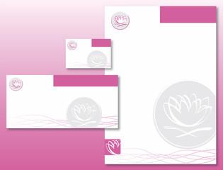 Charte Graphique Fleur De Lotus Rose