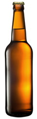 Beer bottle on a white background. With Clipping Path.