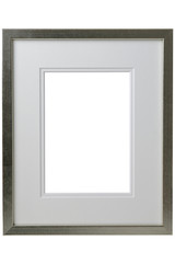 Silver frame with white passepartout.