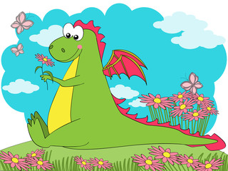 Photo sur Plexiglas Dinosaurs Spring Dragon