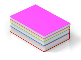 3D rendering colorful books