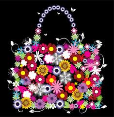 vector floral bag