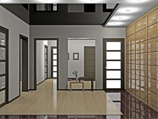 Hall with wardrobe