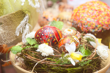 Traditional russian Easter Background