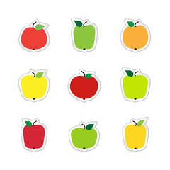 Stickers of apples