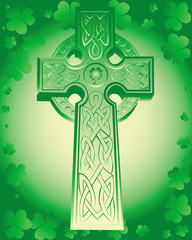 green Celtic cross