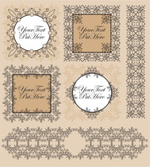 set victorian frames and borders