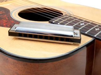 Wall Mural - Guitar and harmonica