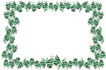 vector illustration of the Frame from  leaves