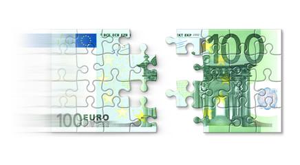 Euro-Puzzle Geld-Magnet