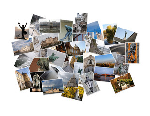 Hungary - background with travel photos of Budapest