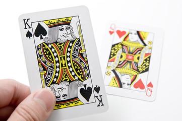 キングとクイーンのカード