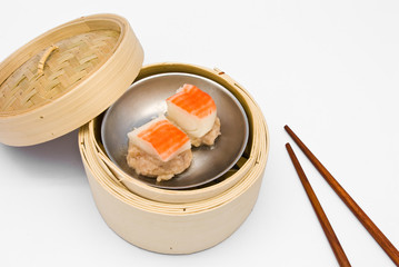 Chinese steamed dimsum crab