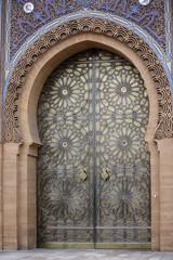 Fotorolgordijn Marokko La porta del palazzo reale di Casablanca - Marocco