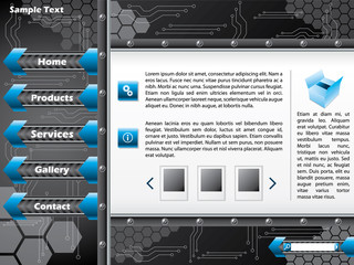 Technology web template design