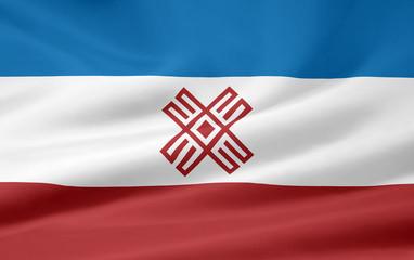 Flagge der russischen Republik Mari El