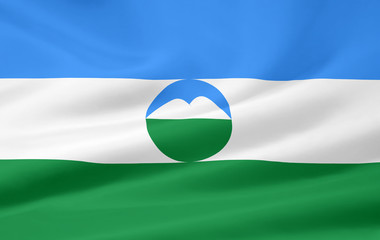Flagge der russischen Republik Kabardino - Balkarien