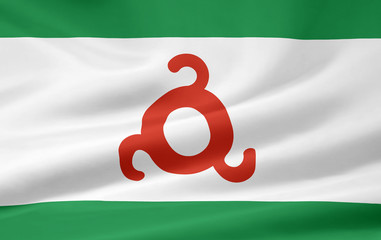 Flagge der russischen Republik Inguschetien