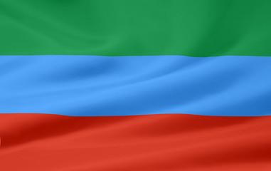 Flagge der russischen Republik Dagestan