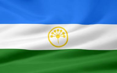 Flagge der russischen Republik Baschkortostan