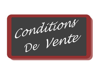PANNEAU CONDITIONS DE VENTE