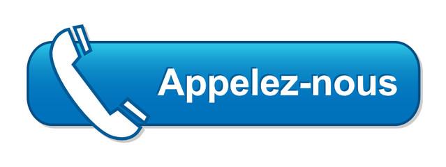 Bouton Web APPELEZ-NOUS (service clients contact contacter bleu)