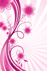 wavy floral background