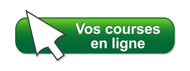 """Bouton Web """"VOS COURSES EN LIGNE"""" (e-commerce soldes e-shopping)"""