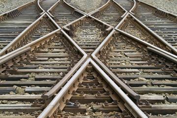 Poster Railroad kreuzung und weichen
