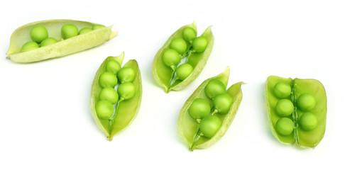 Green peas on beans