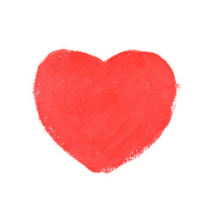 red heart shape on white paper