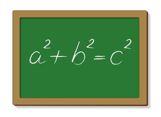 Satz des Pythagoras auf Tafel