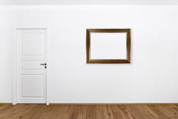 Bilderrahmen auf weißer Wand