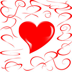 love married heart background