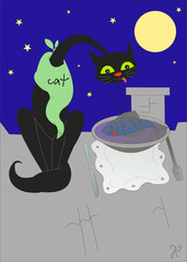 ужин кота