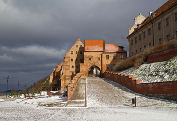 Water Gate in Grudziadz at winter - Poland