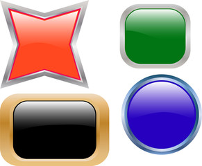 collection of cool buttons - vector