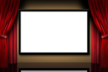 cinema display stage movies opening night theater blank