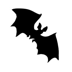 silhouette bat on white background