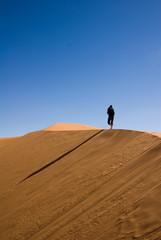 hiker on the desert
