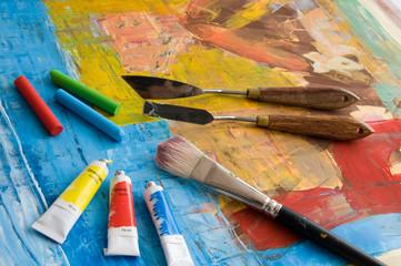 Utensilien des Malers