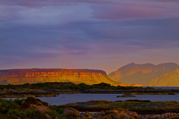 Rhum and Eigg, First Rays