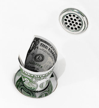 Throwing money down the drain